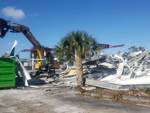 Structural Demolition Of Shell Gas Station