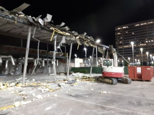 Structural Demolition Of West Houston Porsche dealership