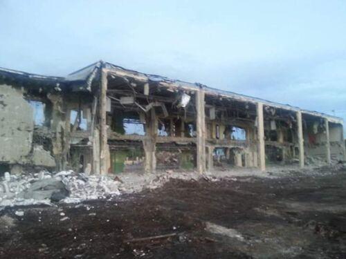 Structural demolition of Frederick Douglas elementary school in Miami FL